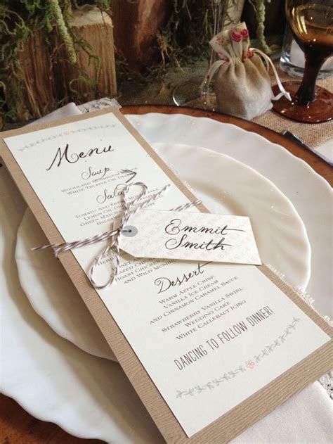 25  best ideas about Menu Cards on Pinterest   Wedding