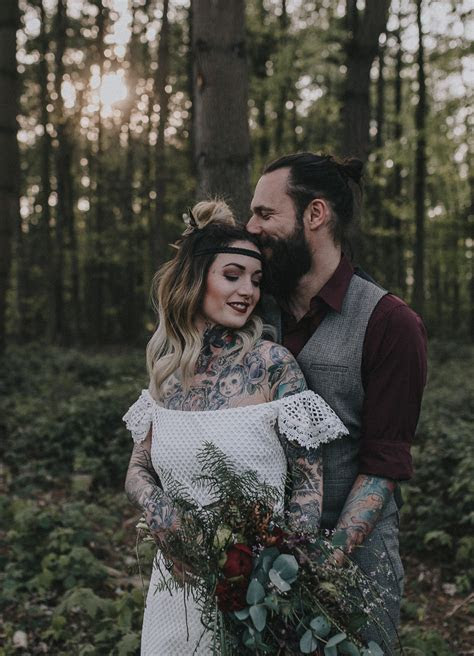 Bohemian, Woodland Elopement Ideas   Alternative   Edgy