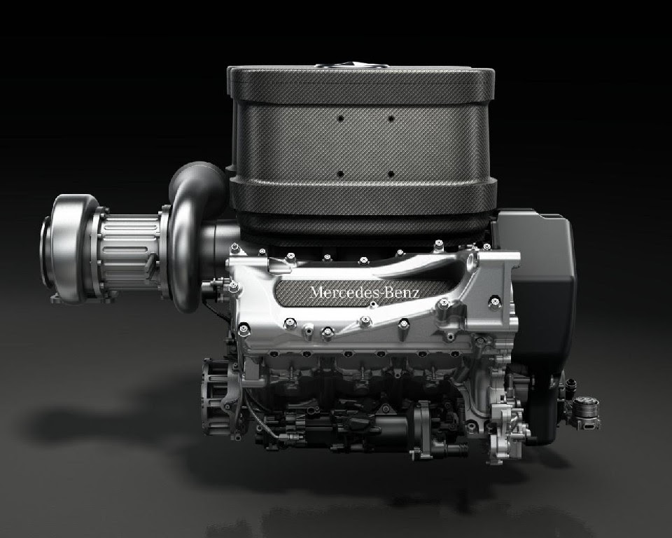 2014 Mercedes V6 Turbo Formula 1 Engine Previewed