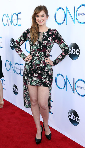 Actress Elizabeth Lail attends the Screening of ABC's 'Once Upon A Time' Season 4 at the El Capitan Theatre on September 21, 2014 in Hollywood, California.