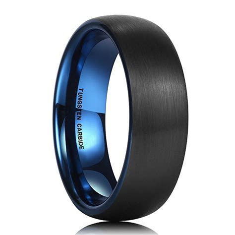 7mm   Unisex or Men's Tungsten Wedding Band. Black Matte
