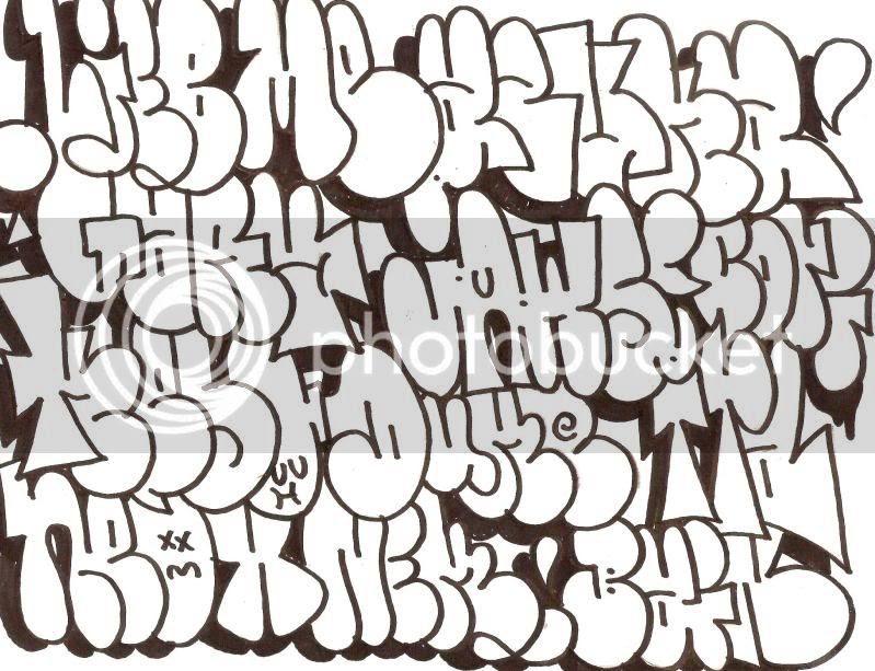 Tipo De Letras Graffiti Abecedario Graffiti Bomba Graffiti Bomba