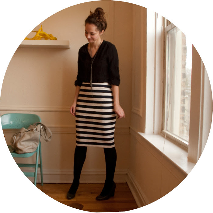 dash dot dotty, striped skirt, navy and black, stripes outfit, ootd, remix, ways to wear stripes