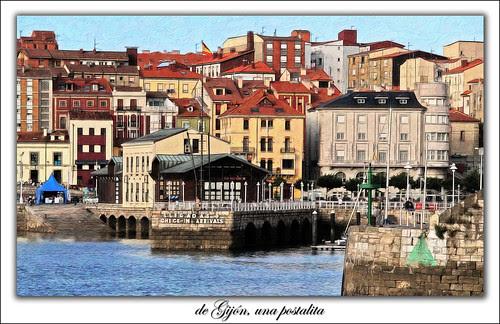 de Gijón, una postalita