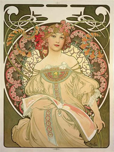 Champagne Printer Publisher - Alphonse Mucha