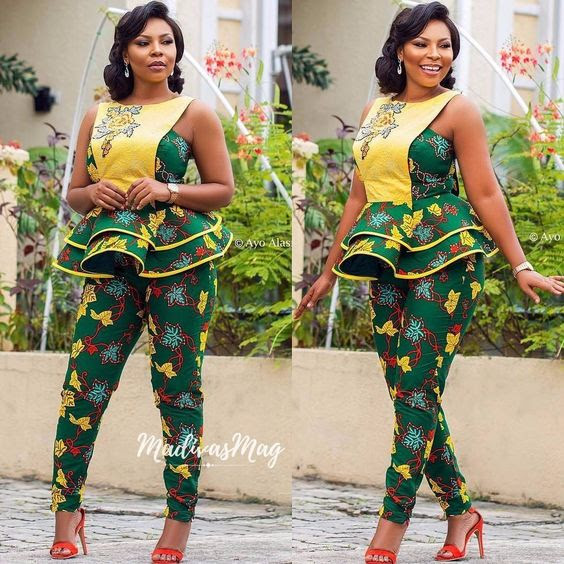 Ladies!! Check Out The Latest 2018 Ankara Jumpsuit Styles (Photos)