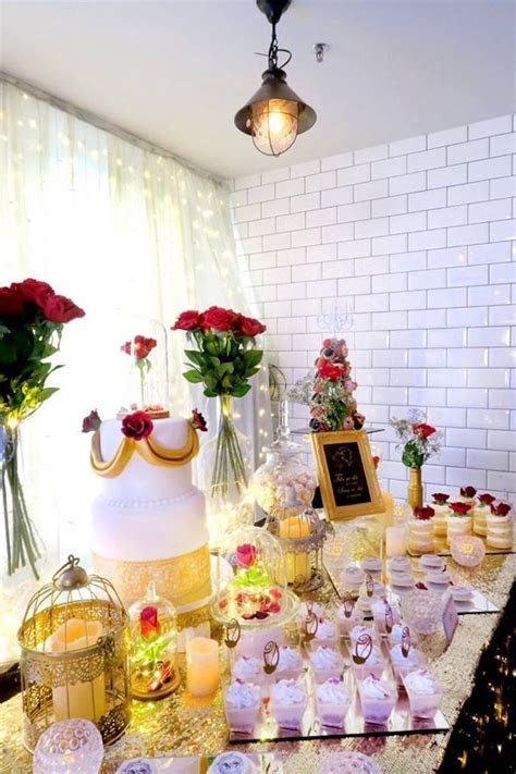 Kara's Party Ideas Beauty and the Beast Inspired Wedding