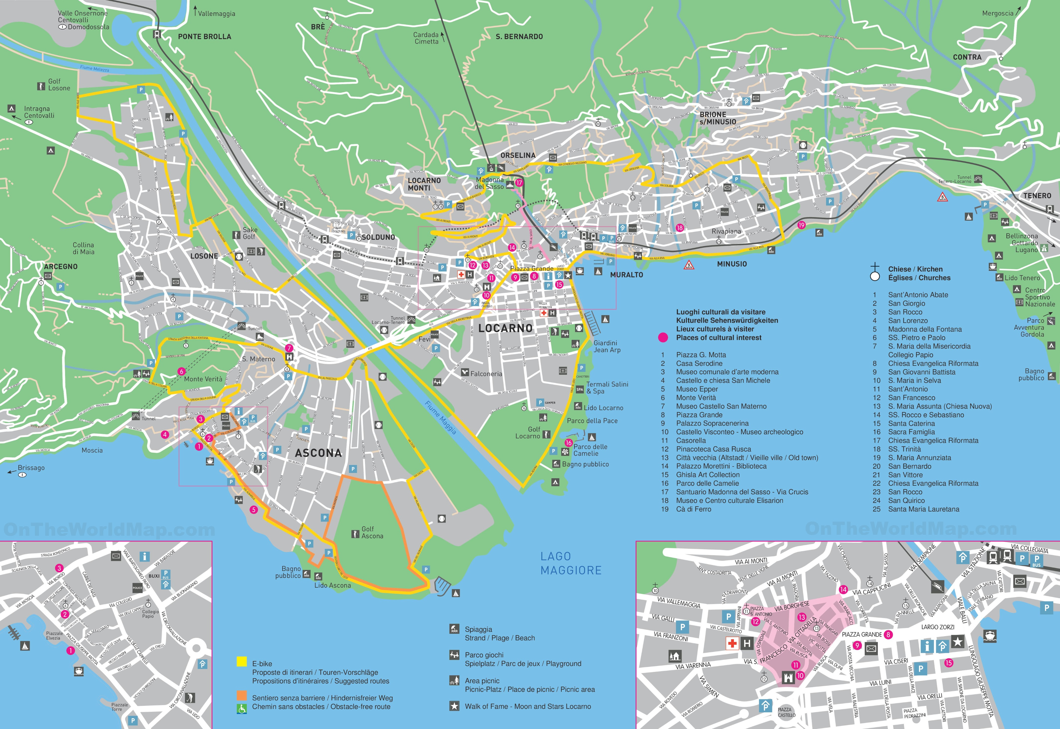 large detailed tourist map of locarno
