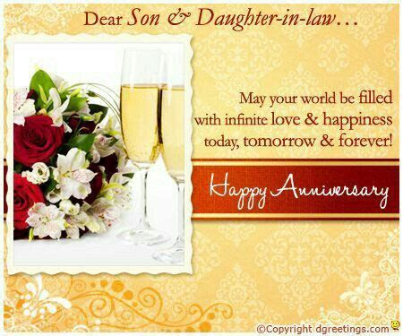 Happy Anniversary Son & Daughter in Law   Greetings