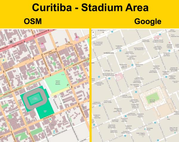 OSM vs. Google Maps