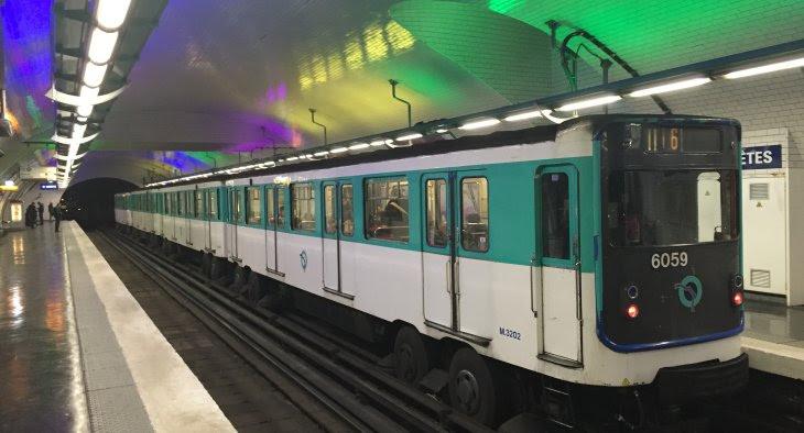 Paris Subway System Map, Standard Style Metro Train, Paris Subway System Map