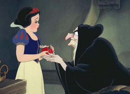 Resultado de imagem para snow white and the apple