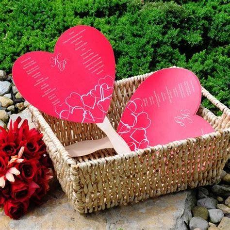 DIY Heart Shaped Wedding Program Fan Kit