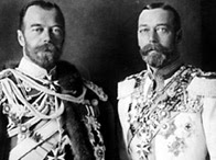 George V with his cousin, Tsar Nicholas II