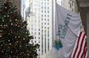 The NYSE Euronext flag hangs outside the New York Stock Exchange in New York