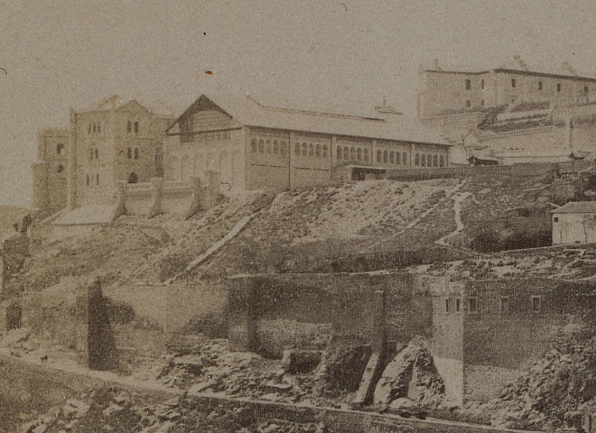 Picadero Militar en Toledo. Abril de 1889. Fotografía de James Jackson (detalle)