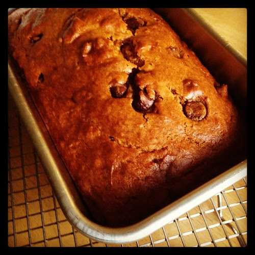 Chocolate Chip Pumpkin Bread is cooling.  Now on to the cookies!