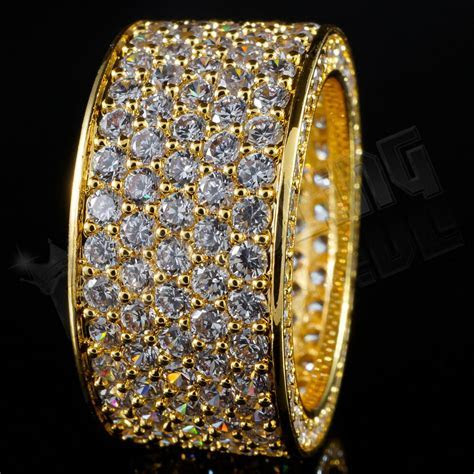 18K Gold 11mm ETERNITY Wedding Engagement Band MICROPAVE