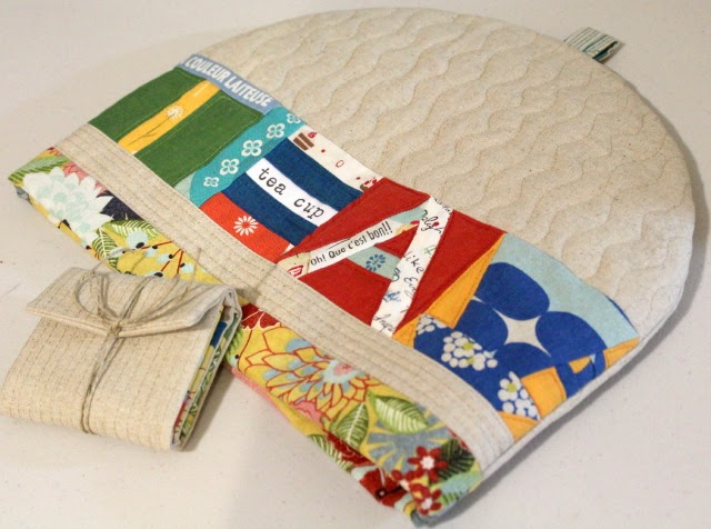 Lettered Tea Cozy and Tea Pouch