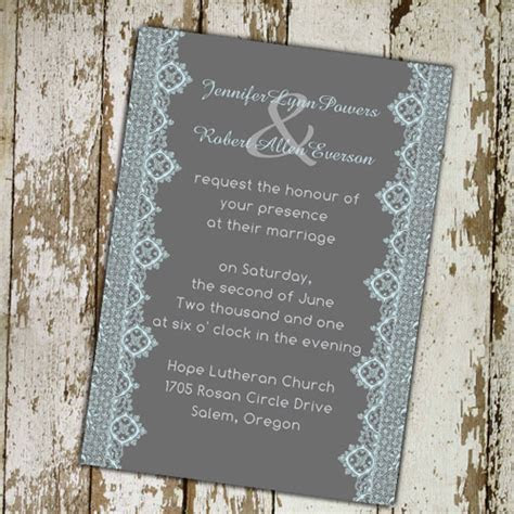 Cheap Printable Lace Wedding Invitations At