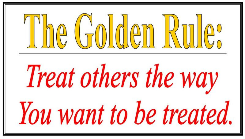 Golden Rule Do You Treat Others As You Want To Be Treated Clip
