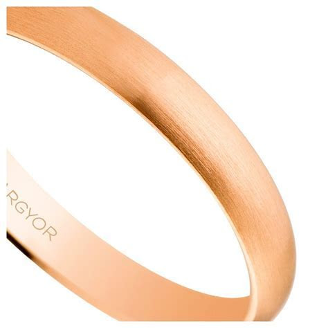 Rose gold wedding ring   brushed finish 5C305S   Argyor