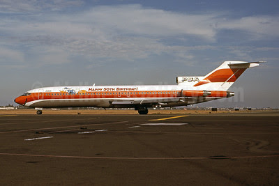 PSA (Pacific Southwest Airlines) Boeing 727-214 N555PS (msn 21512) (Donald Duck - Happy 50th Birthday!) SJC (Thomas Livesey). Image: 100971.