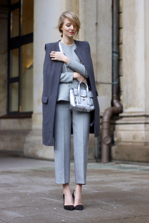 Source: http://www.ohhcouture.com/2014/12/silver-bag-phillip-lim/ #totallook #zara #reserved #grey
