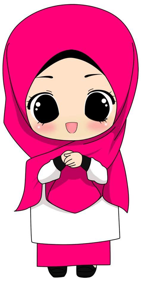 gambar kartun muslimah png kantor meme