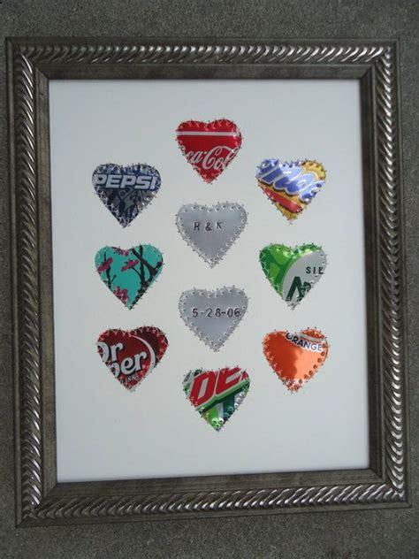 Tin Anniversary Gift   10 Year Anniversary Gift   Hearts