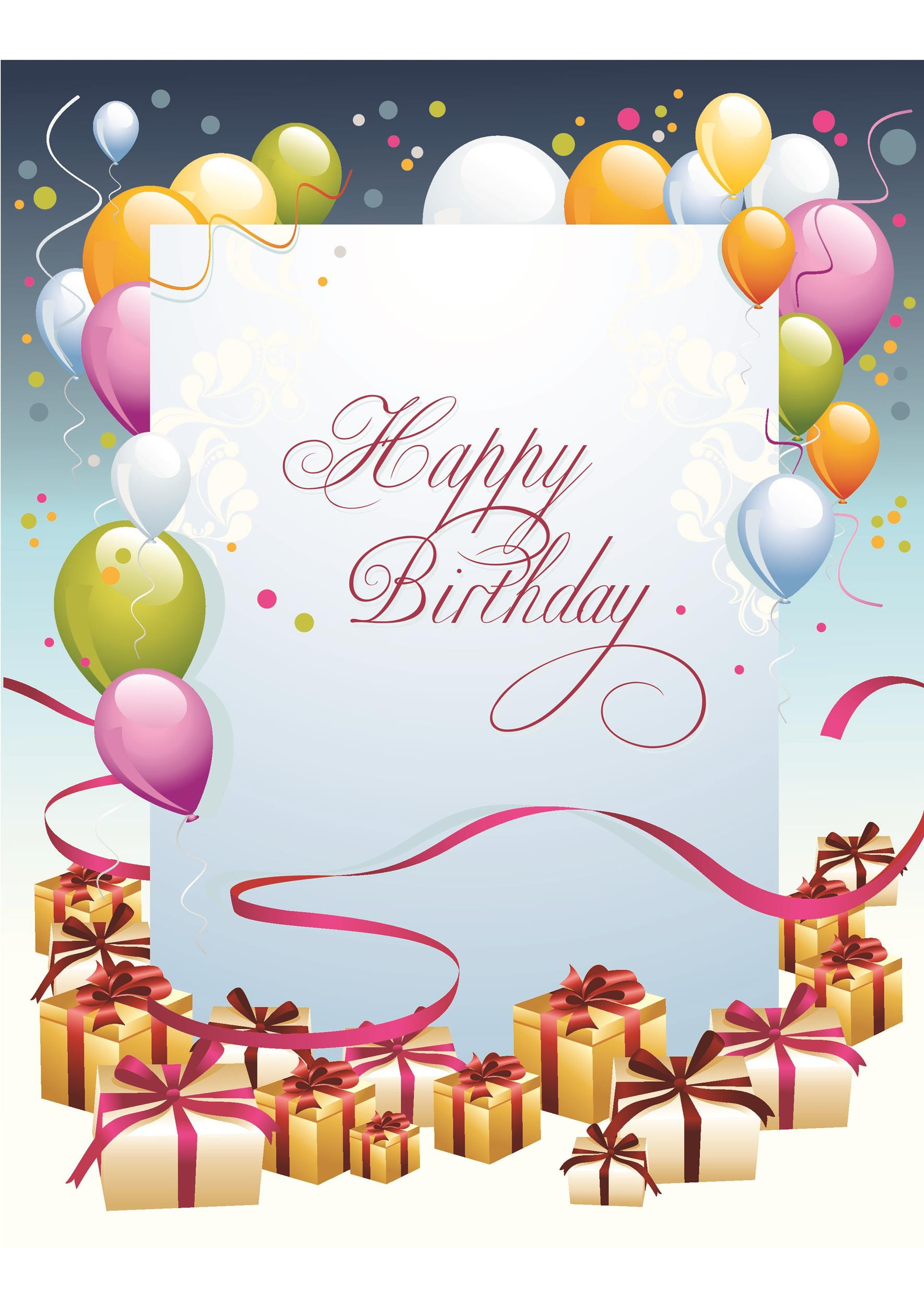 Birthday Cards Free Download Card Design Template