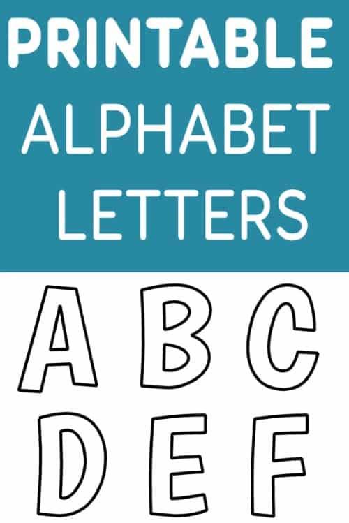Printable Free Alphabet Templates