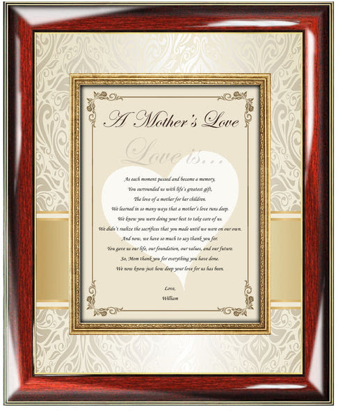 Birthday Gifts For Mom Daughter Wedding Poem Thank You Present Mother