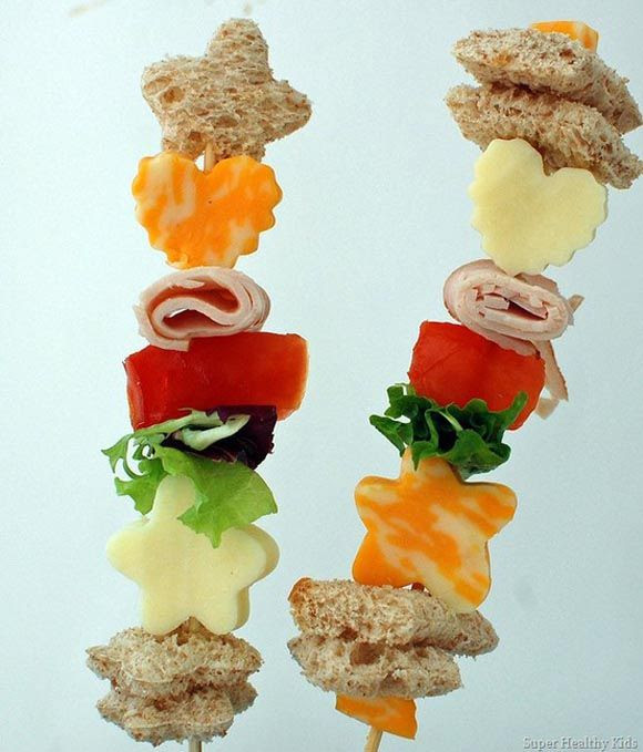 Sandwich on a stick..Would be fun for lunch...