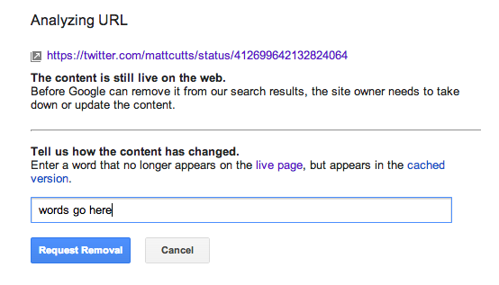 url removal content
