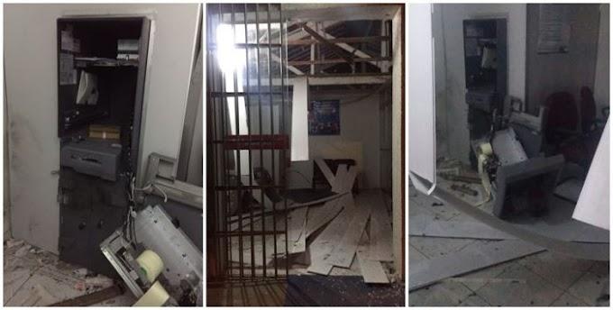 Serra Negra do Norte: bandidos explodem caixa do Bradesco