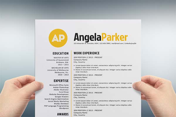 25 New Cool Resume Templates Word Best Resume Examples