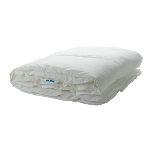"MYSA STRÅ Comforter, warmth rate 1 Length: 86 "" Width: 86 "" Filling weight: 28 oz Total weight: 62 oz  Length: 218 cm Width: 218 cm Filling weight: 790 g Total weight: 1760 g"