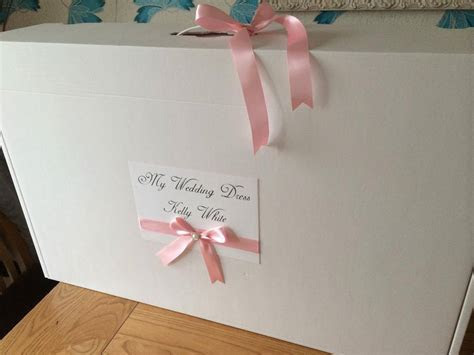 Personalised Extra Large Wedding Dress Storage Box with