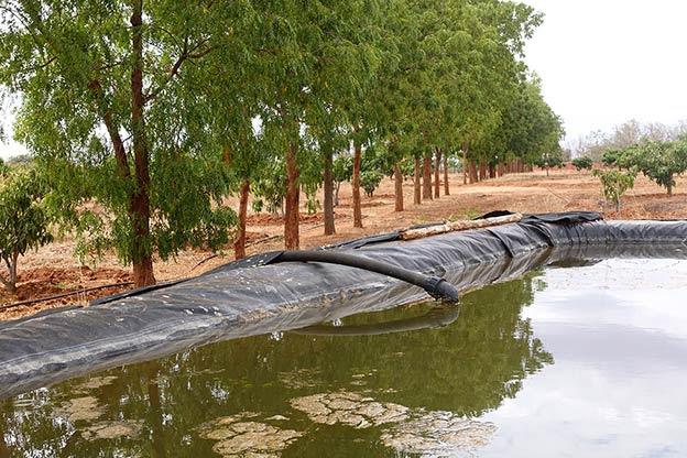 50,000 liter water basin for irrigation system