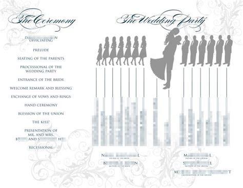 trifold silhouette program weddingbee photo gallery