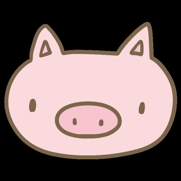 豚の顔のイラスト かわいいフリー素材が無料のイラストレイン