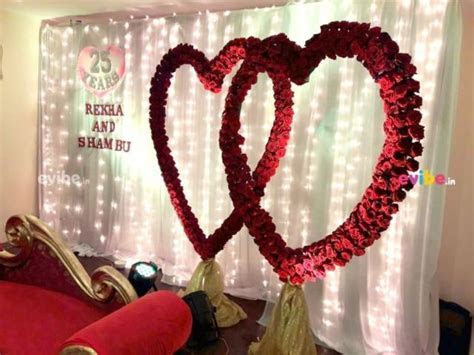 Beautiful heart with roses theme decor for wedding