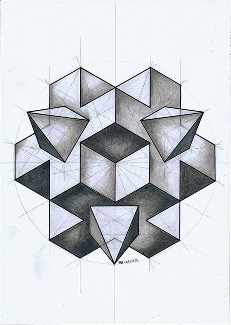 solid polyhedra geometry symmetry handmade pencil