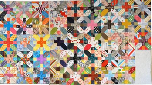 Japanese + and x blocks