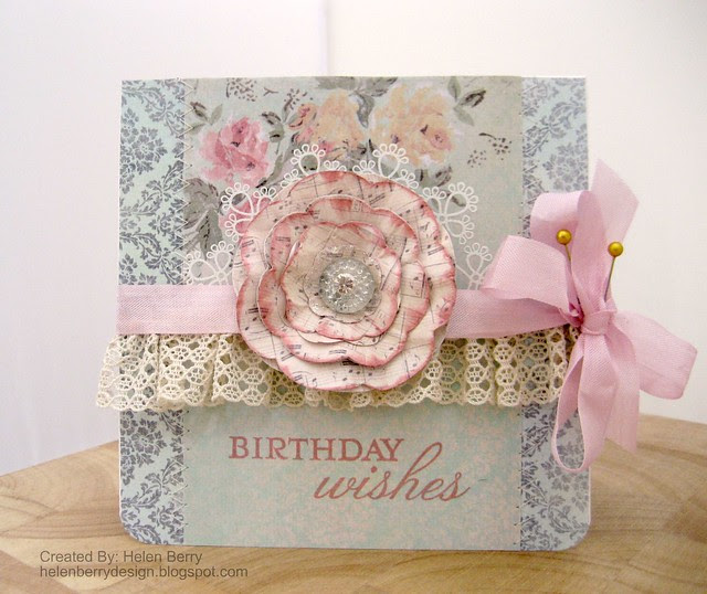 Birthday Wishes Musical flower Card