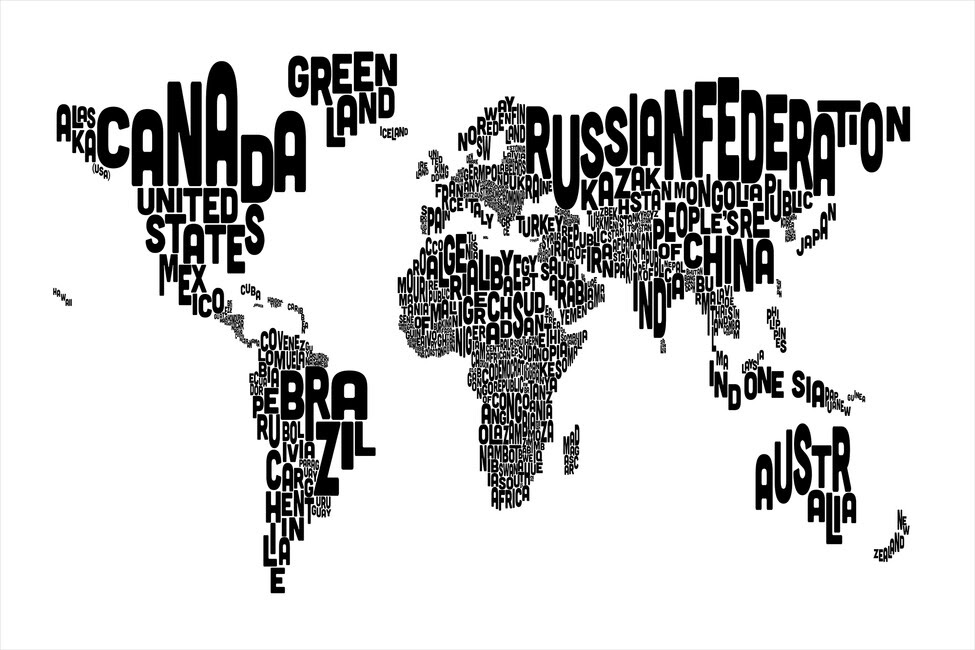 Image Result For World Map Wall Print