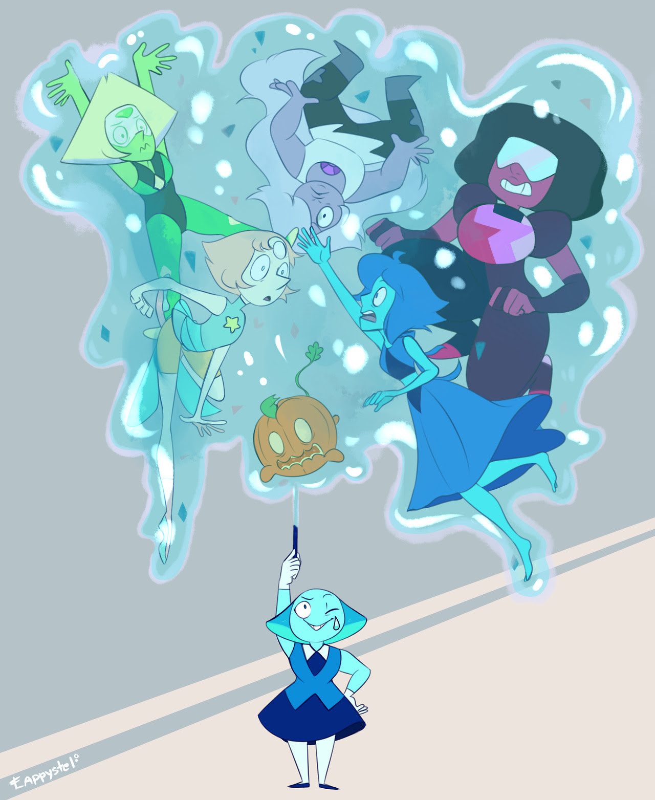 Aquamarine so OP she could take down the Diamonds if she wanted to.