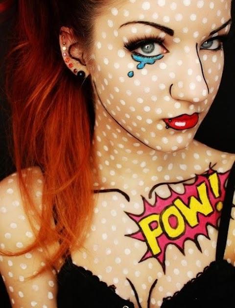 Comic Book Girl Halloween Makeup