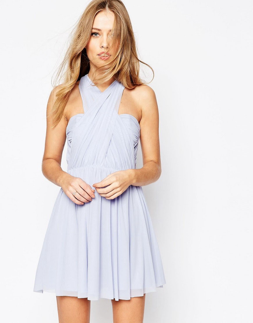 Image 1 of ASOS WEDDING Multiway Mesh Mini Dress